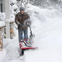 Snow blower driveway