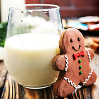 Milk and gingerbread man