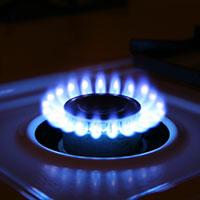 Blue propane flame