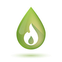 Oil drop heating