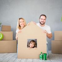 House cardboard cutout