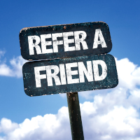 Refer a friend sign