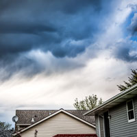 Thundercloud over home