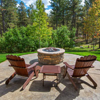 Fire pit outdoor living