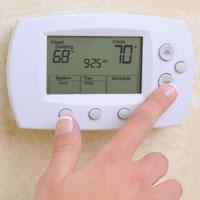 Thermostat fan settings