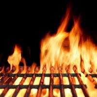 Propane grill fire