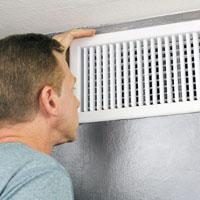 Examining house vent